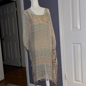 NWT Lovestitch bohemian caftan with tassels